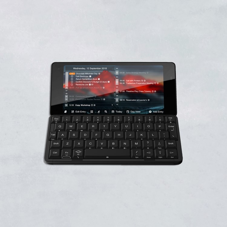 pocket computer device with screen and keyboard