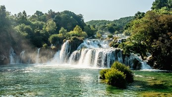 A waterfall in Croatia
