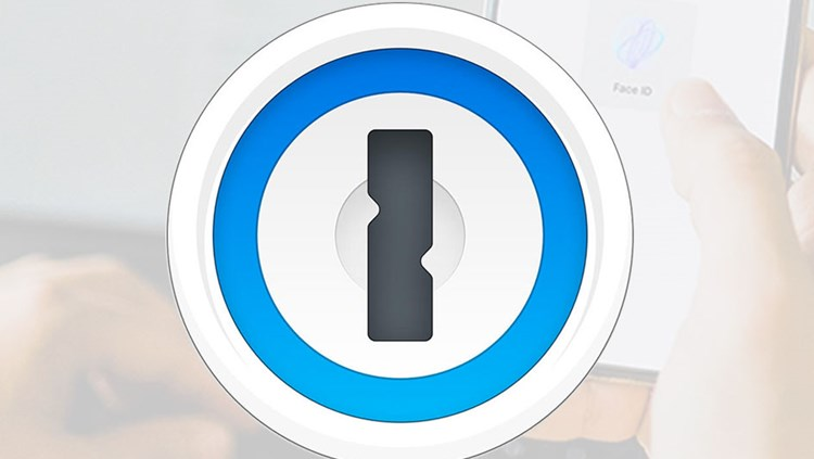 Concept of an app icon with a lock on it showing the 1Password app's functionality