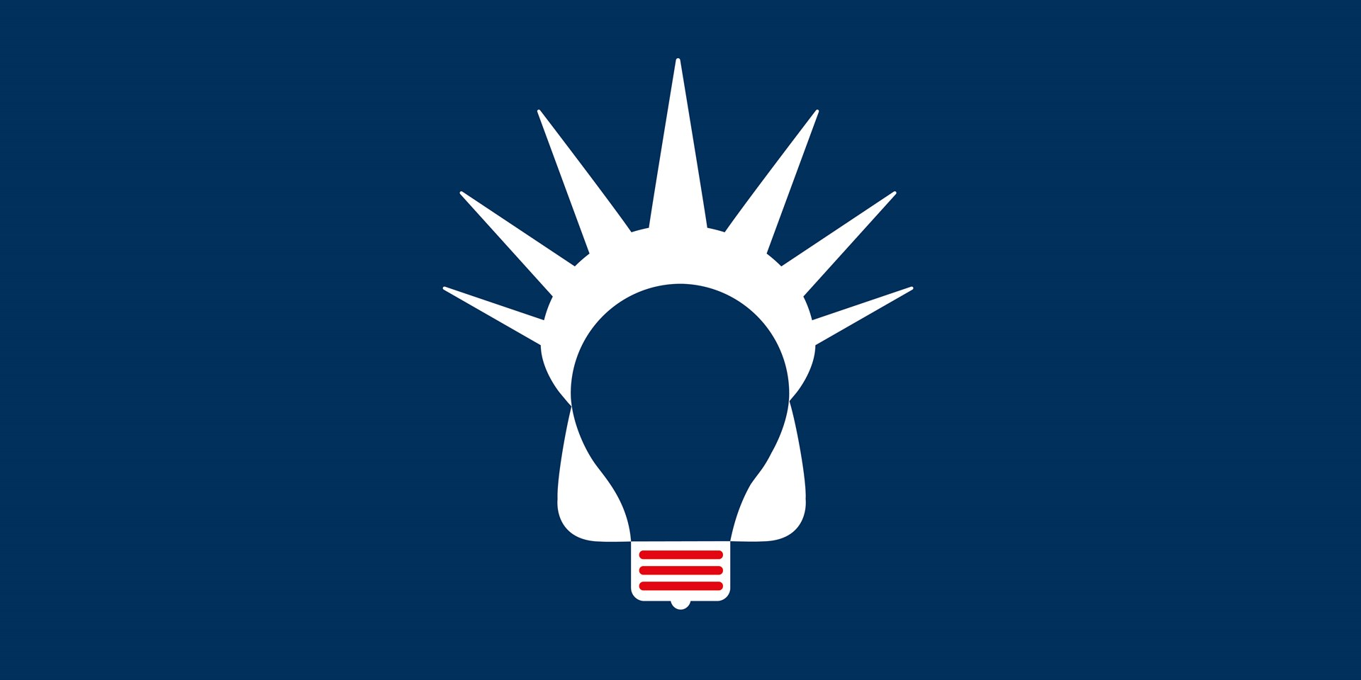 An illustration concept of a lightbullb and the Statue of Liberty