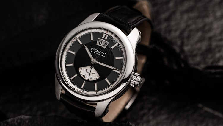 Stylish black and silver wrist watch