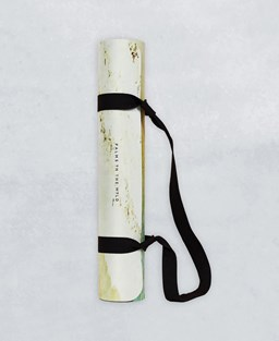 'Palms in the Wild' yoga mat with carry strap